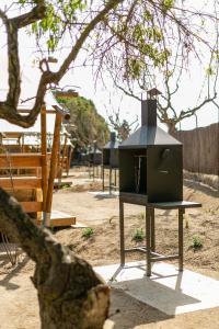 Barbecuefaciliteiten beschikbaar voor gasten van de camping