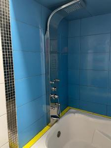 A bathroom at Hotel Manantial No,001