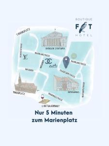 A bird's-eye view of Hotel Falkenturm