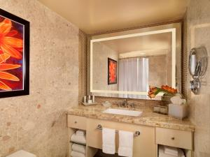 A bathroom at The Mirage
