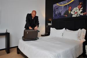 Cama o camas de una habitación en YOOMA Urban Lodge