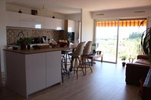 A kitchen or kitchenette at Les Calanques d'or
