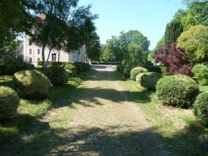 Jardin de l'établissement Château du Mesnil Soleil , gites et chambres d'hôtes