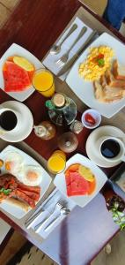 Breakfast options available to guests at Camino Verde B&B Monteverde Costa Rica