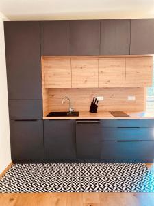 Küche/Küchenzeile in der Unterkunft Pension Grasser