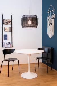 Ein Sitzbereich in der Unterkunft The BL42 - Vienna Concept Apartments