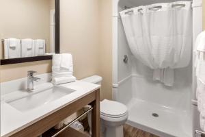 A bathroom at Comfort Inn & Suites Thousand Islands Harbour District