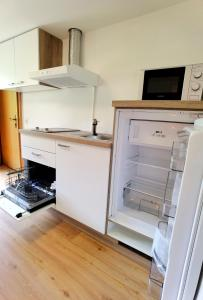 Küche/Küchenzeile in der Unterkunft Tieflehner Hof Aparthotel