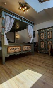 Ein Bett oder Betten in einem Zimmer der Unterkunft Tieflehner Hof Aparthotel