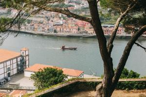 Uitzicht op een rivier vlak bij het hotel