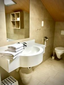 A bathroom at Pension Gartner