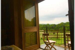 A balcony or terrace at Malthouse Farm Carriage