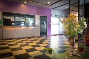The lobby or reception area at Hotel MaxIntimo