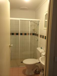 A bathroom at Box Hill Studio Apartment 2