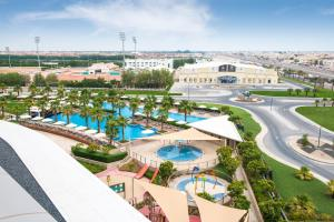 A view of the pool at Marriott Hotel Al Forsan, Abu Dhabi or nearby
