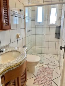 A bathroom at Residencial Nápole