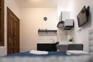 A kitchen or kitchenette at Apartamenty Łazienna 9/3