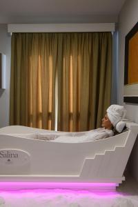 Letto o letti in una camera di Seawater Hotels & Medical SPA