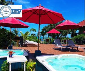 The swimming pool at or near Royal Beach Boutique Resort & Spa Koh Samui - SHA Plus