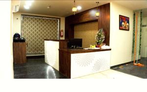 The lobby or reception area at The Raas Mahal Hotel