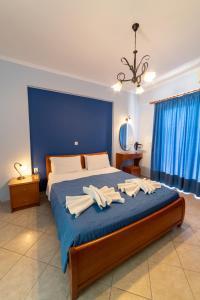 Ένα ή περισσότερα κρεβάτια σε δωμάτιο στο Studio Konstantinos