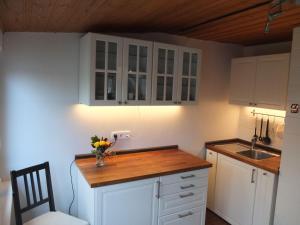 Küche/Küchenzeile in der Unterkunft Ferienwohnung Alexandra