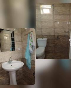 Um banheiro em Gabala,yard, house