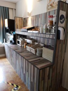 Cuisine ou kitchenette dans l'établissement Hotel Sfinx
