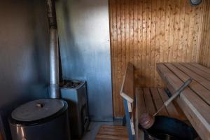 Ett badrum på Piilijärvi Camping