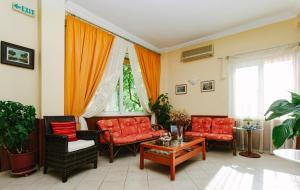 Χώρος καθιστικού στο Hotel Loula Rooms and Apartments