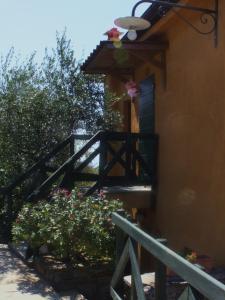 A balcony or terrace at Il Borgo Di Campi