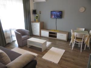 Posezení v ubytování Kővirág Apartman