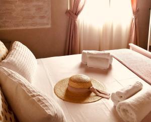 Letto o letti in una camera di Az. Agr. Parco dei Buoi