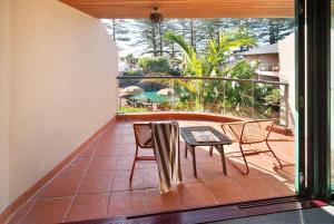 A balcony or terrace at Beach Hotel Resort