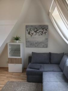 Ein Sitzbereich in der Unterkunft Hotel Bölke