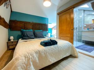 Un ou plusieurs lits dans un hébergement de l'établissement Ma Longère Bressane