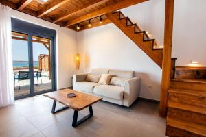 A seating area at Cato Agro 3, Seafront Villa with Private Pool