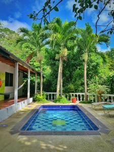 The swimming pool at or near La Casablanca Tayrona House