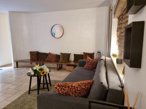 A seating area at Octavia Suites