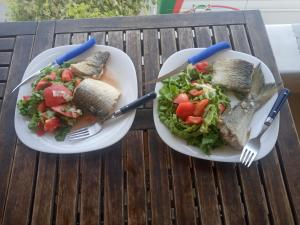 Food at or somewhere near the hostel