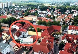 A bird's-eye view of Pension zum Hirsch