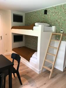 A bunk bed or bunk beds in a room at Hotel Jans