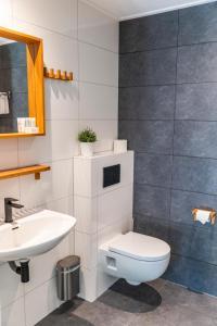 A bathroom at Hotel Jans