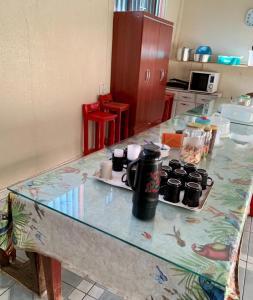 A kitchen or kitchenette at Hostel Horizonte de Minas