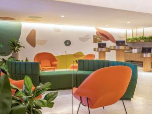 The lounge or bar area at Mercure Rio Boutique Hotel Copacabana