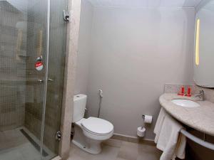 A bathroom at ibis Natal