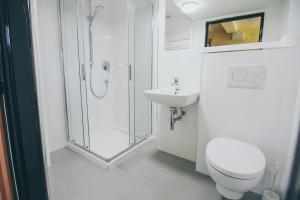 Koupelna v ubytování Vila Šumná