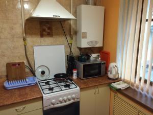 Кухня или мини-кухня в Апартамент Чудинцева 7