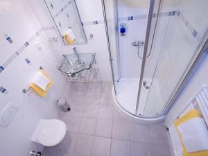 Koupelna v ubytování Hotel Harmonie