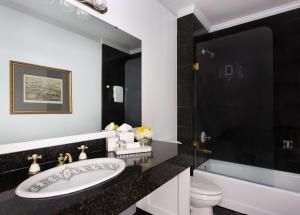 A bathroom at The Driskill, in The Unbound Collection by Hyatt